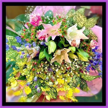 送別用花束をお届けいたしました。